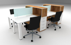 Rectangular Clerical Upstart Office  4
