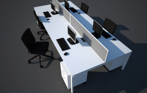 Rectangular Clerical Upstart Office  2
