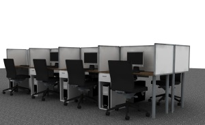 8 seater cluster workstation open day filers crop office desking
