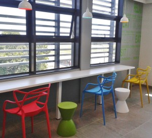 Hospital waiting area panorama upstart office interior design