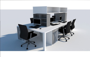 Clerical Workstation Upstart Office 2