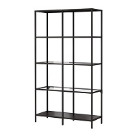 STEEL SHELVING WITH GLASS