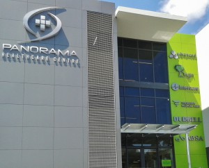 hospital entrance panorama interior design
